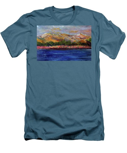 Dunes At Pilgrim Lake Men's T-Shirt (Slim Fit) by Michael Helfen
