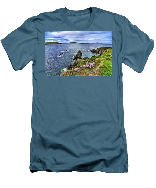 Dunquin Flowers  Men's T-Shirt (Athletic Fit)