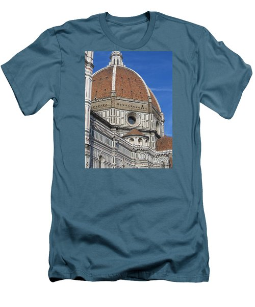 Duomo Cathedral Florence Italy  Men's T-Shirt (Slim Fit) by Lisa Boyd