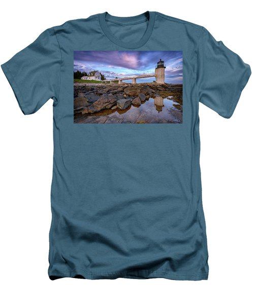 Men's T-Shirt (Athletic Fit) featuring the photograph Dusk At Marshall Point by Rick Berk