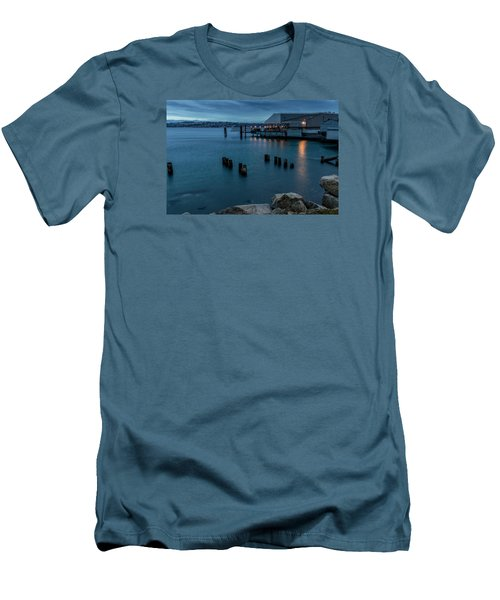 Dusk Falls Over The Lobster Shop Men's T-Shirt (Slim Fit) by Rob Green