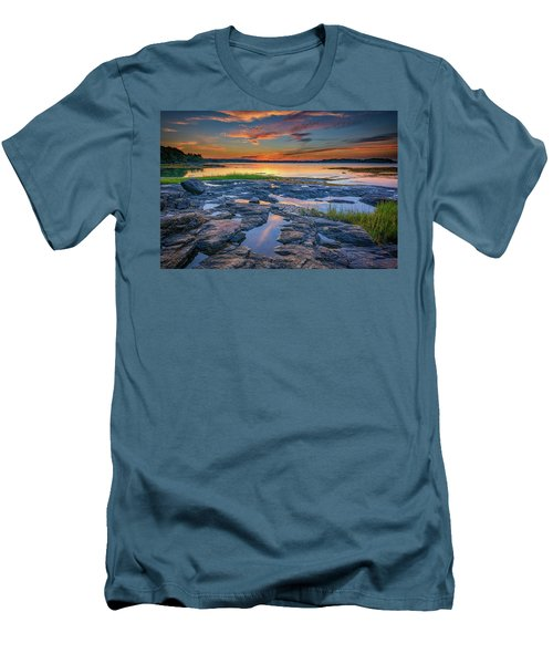 Men's T-Shirt (Athletic Fit) featuring the photograph Dusk On Littlejohn Island by Rick Berk