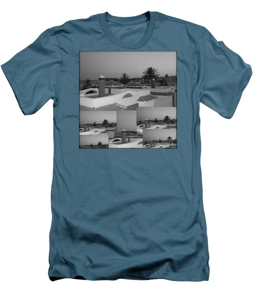 Men's T-Shirt (Slim Fit) featuring the photograph Dusky Rooftops by Linda Prewer
