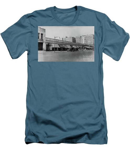 Men's T-Shirt (Athletic Fit) featuring the photograph Dyckman Street, 1927 by Cole Thompson