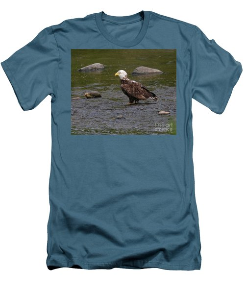 Men's T-Shirt (Athletic Fit) featuring the photograph Eagle Deep In Thought by Debbie Stahre