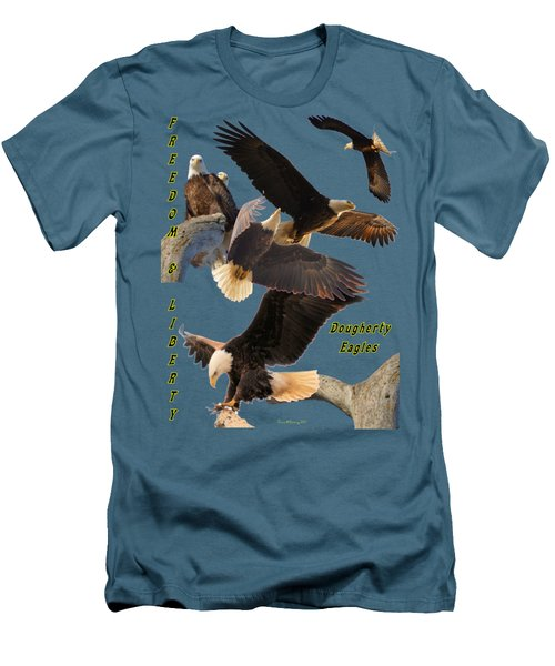 Eagle T-shirt Men's T-Shirt (Slim Fit) by Bonfire Photography