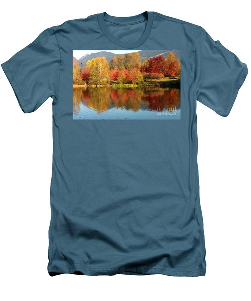 Early Fall At Lafarge Lake Men's T-Shirt (Slim Fit) by Rod Jellison