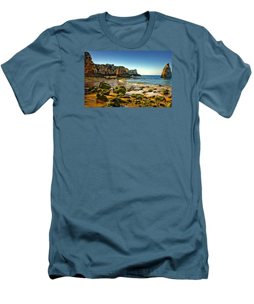 Men's T-Shirt (Slim Fit) featuring the photograph Early Morning Alvor Beach by Brian Tarr