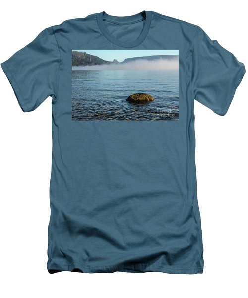 Men's T-Shirt (Slim Fit) featuring the photograph Early Morning At Lake St Clair by Werner Padarin