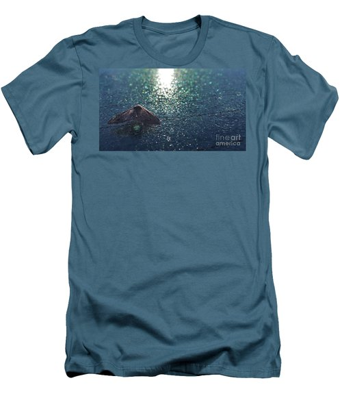 From A Window Of A Car Men's T-Shirt (Slim Fit) by Donna Brown