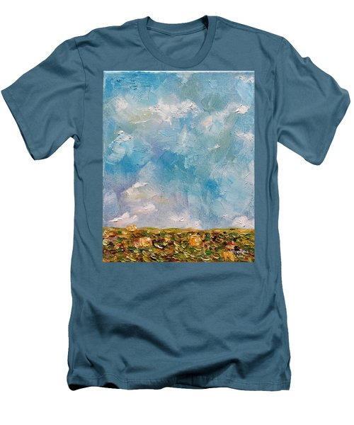 Men's T-Shirt (Athletic Fit) featuring the painting East Field Seedlings by Judith Rhue