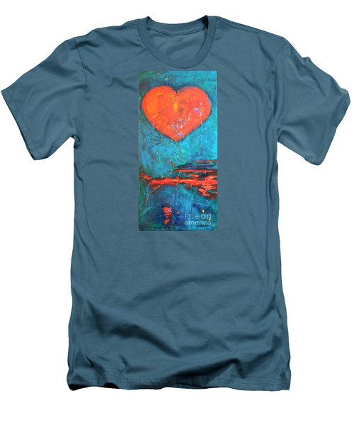 Men's T-Shirt (Slim Fit) featuring the painting East Winds by Diana Bursztein