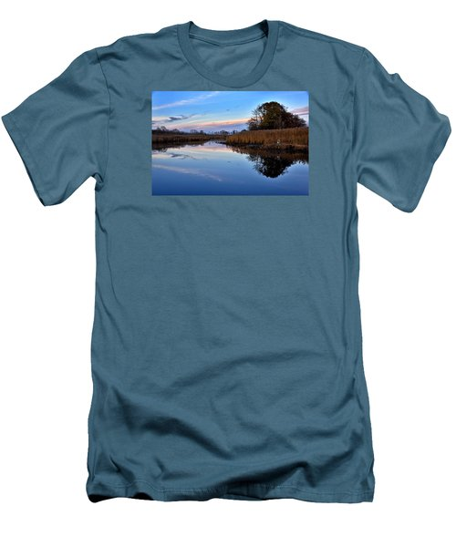 Men's T-Shirt (Slim Fit) featuring the photograph Eastern Shore Sunset - Blackwater National Wildlife Refuge by Brendan Reals