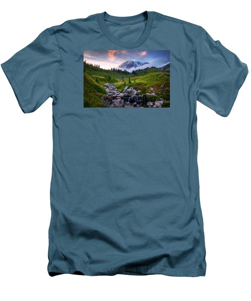 Men's T-Shirt (Slim Fit) featuring the photograph Edith Creek Sunset by Dan Mihai