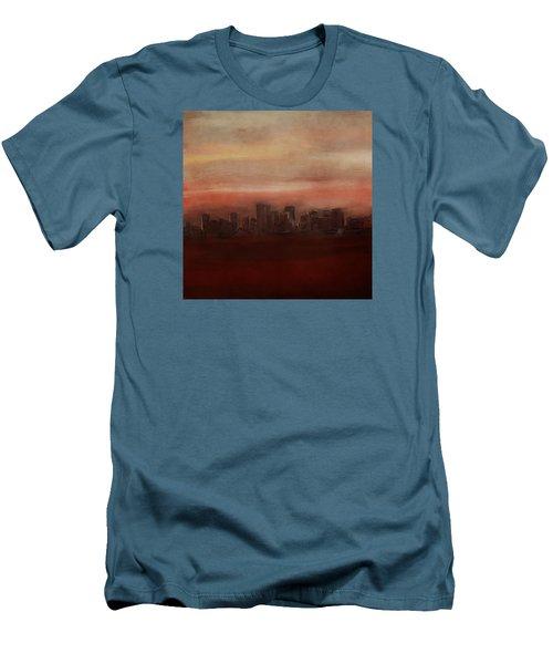 Edmonton At Sunset Men's T-Shirt (Athletic Fit)