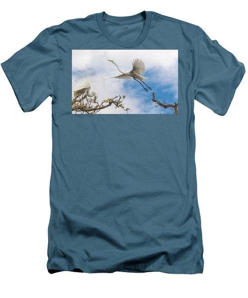 Egret Grace Men's T-Shirt (Athletic Fit)