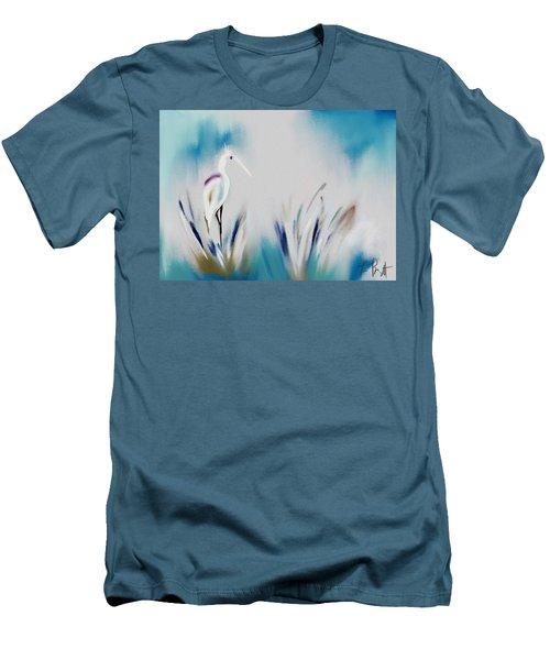 Egret Splash Men's T-Shirt (Athletic Fit)