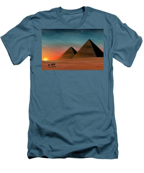 Egyptian Pyramids Men's T-Shirt (Athletic Fit)
