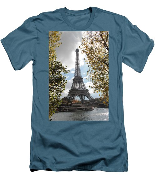 Men's T-Shirt (Slim Fit) featuring the photograph Eiffel From Avenue De New York by Christopher Kirby