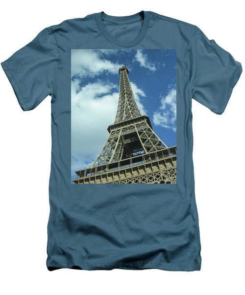 Men's T-Shirt (Slim Fit) featuring the photograph Eiffel Tower by Allen Sheffield