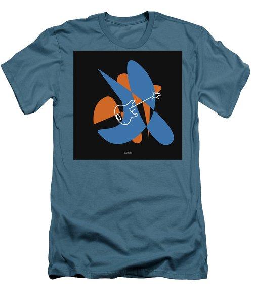 Electric Bass In Blue Men's T-Shirt (Slim Fit) by David Bridburg