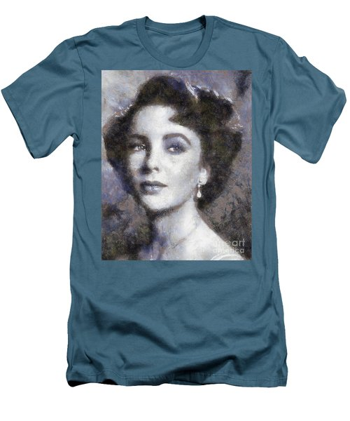 Elizabeth Taylor By Sarah Kirk Men's T-Shirt (Athletic Fit)