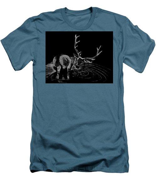Elk Men's T-Shirt (Slim Fit) by Lawrence Tripoli