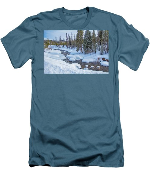 Elk River Men's T-Shirt (Slim Fit) by Sean Allen