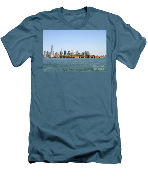 Ellis Island New York City Men's T-Shirt (Athletic Fit)