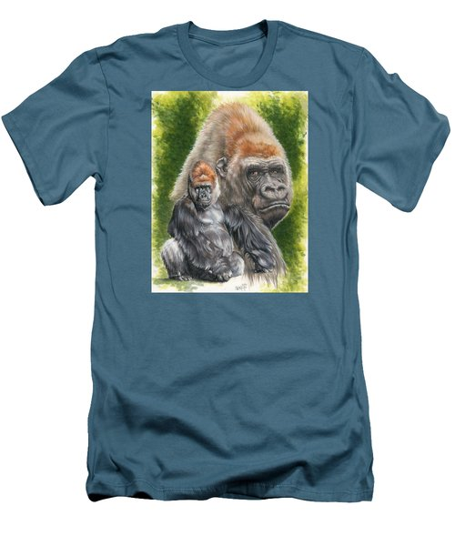 Men's T-Shirt (Slim Fit) featuring the painting Eloquent by Barbara Keith