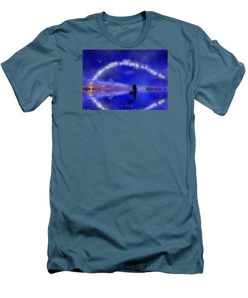 Men's T-Shirt (Slim Fit) featuring the digital art Emily's Journey Part 1 by Bernd Hau