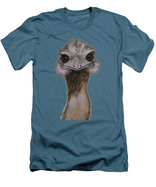 Emu Selfie Men's T-Shirt (Slim Fit) by Kathy Carothers