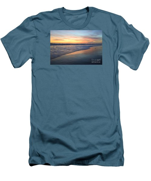 Men's T-Shirt (Athletic Fit) featuring the photograph Encinitas Blue  by John F Tsumas