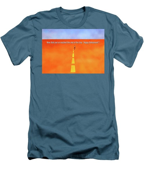 End Of The Line Greeting Card Men's T-Shirt (Slim Fit) by Thomas Blood