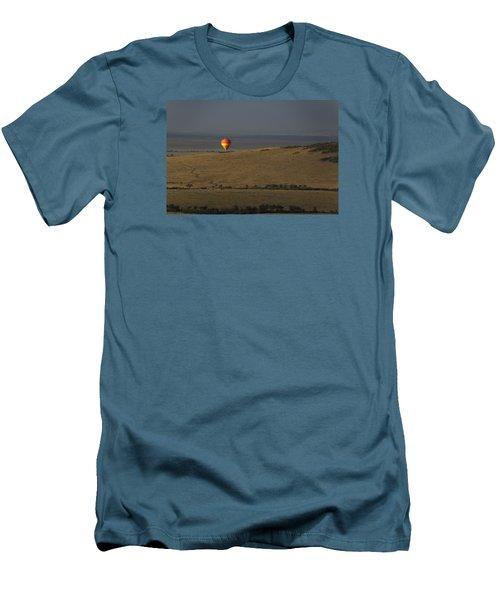 Men's T-Shirt (Slim Fit) featuring the photograph Endless Plains  by Ramabhadran Thirupa ttur