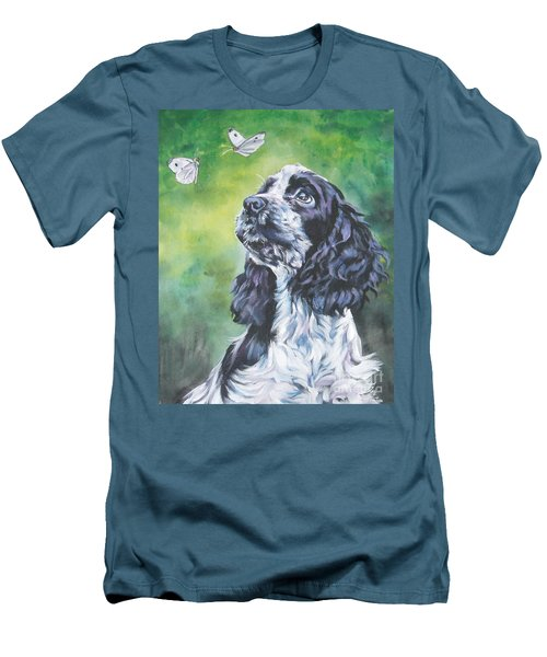 English Cocker Spaniel  Men's T-Shirt (Slim Fit) by Lee Ann Shepard