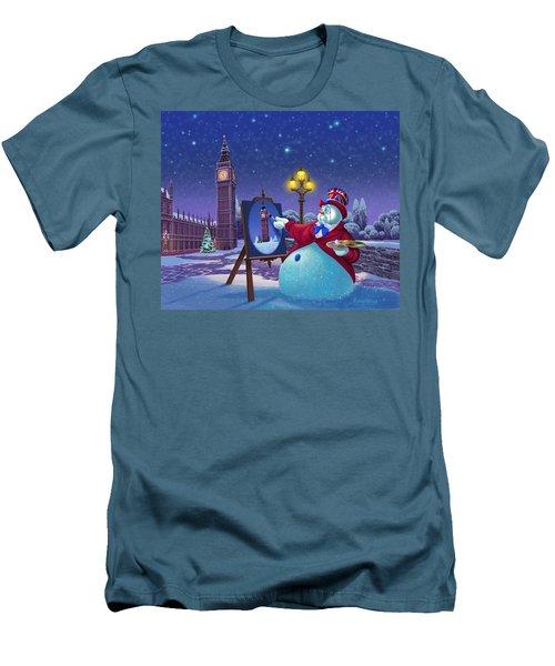 English Snowman Men's T-Shirt (Athletic Fit)