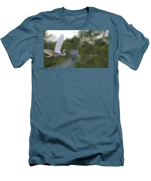 Enter The Great Egret 4 Digitalart Men's T-Shirt (Athletic Fit)