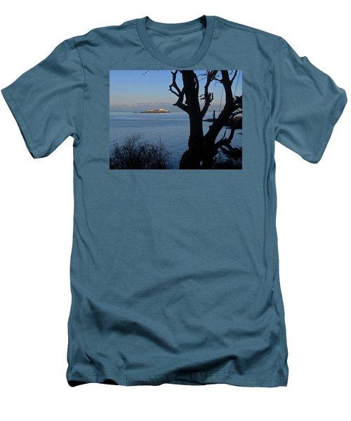 Entrance Island, Bc Men's T-Shirt (Slim Fit) by Anne Havard