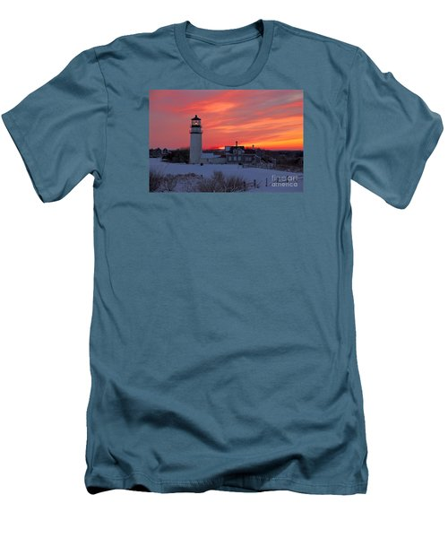 Men's T-Shirt (Slim Fit) featuring the photograph Epic Sunset At Highland Light by Amazing Jules