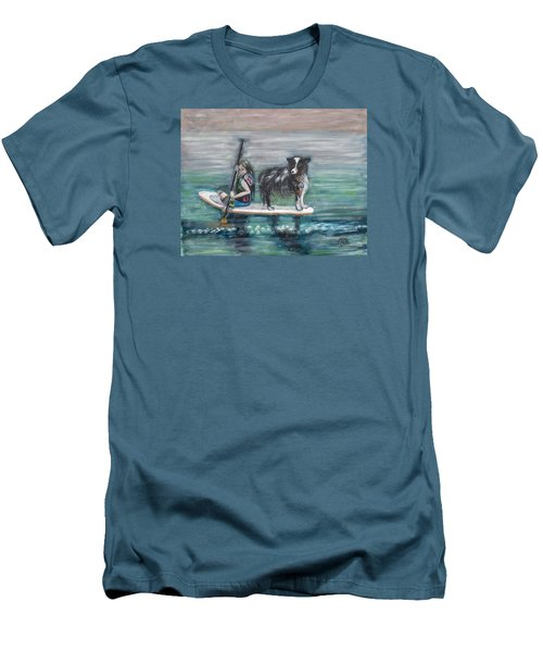 Erin And Oakie On The Paddle Board Men's T-Shirt (Athletic Fit)