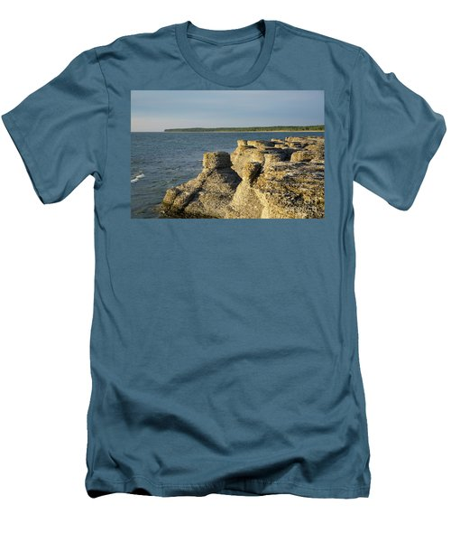 Men's T-Shirt (Athletic Fit) featuring the photograph Eroded Cliff Formations by Kennerth and Birgitta Kullman