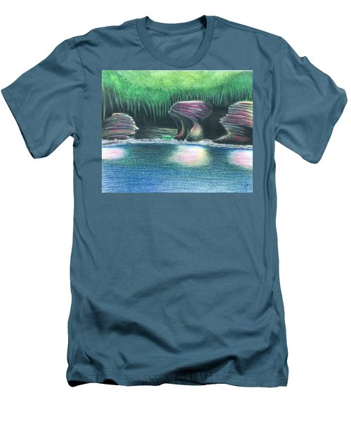 Eroding Away Men's T-Shirt (Athletic Fit)