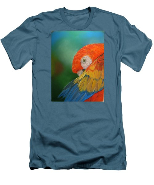 Men's T-Shirt (Slim Fit) featuring the painting Escondida by Ceci Watson