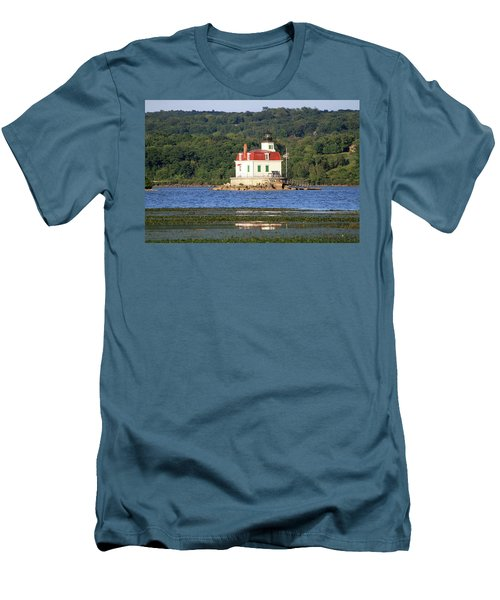 Men's T-Shirt (Slim Fit) featuring the photograph Esopus Lighthouse In Summer #4 by Jeff Severson