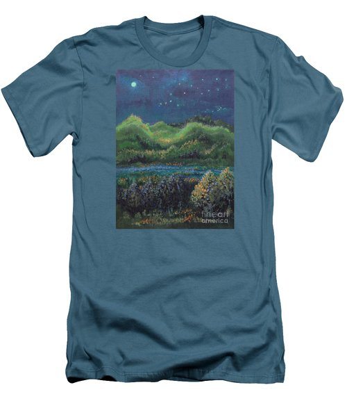 Men's T-Shirt (Slim Fit) featuring the painting Ethereal Reality by Holly Carmichael