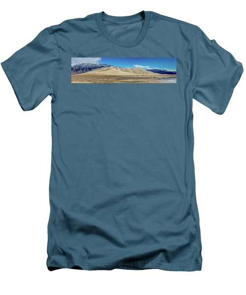 Men's T-Shirt (Slim Fit) featuring the photograph Eureka Dunes - Death Valley by Peter Tellone