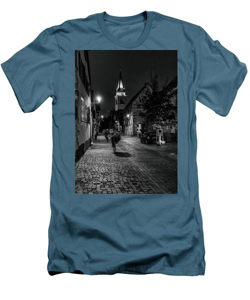 Men's T-Shirt (Slim Fit) featuring the photograph Evening In Bergheim by Alan Toepfer