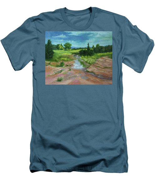 Men's T-Shirt (Slim Fit) featuring the painting Evening Light by Roena King