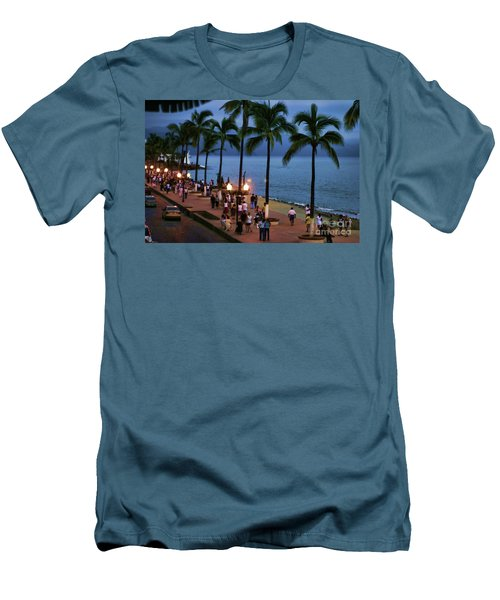 Evenings On The Malecon Men's T-Shirt (Slim Fit) by Chuck Kuhn